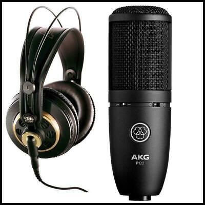 AKG K240 Studio Headphones & Perception 120 Mic Recording Condenser Microphone • 168.62£