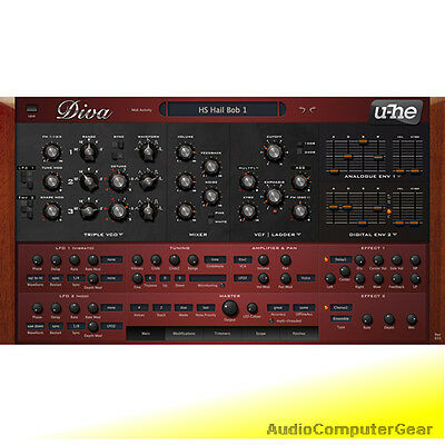 U-he DIVA Virtual Analog Synthesizer Software Synth Plug-in NEW MAKE OFFER • 139.40£