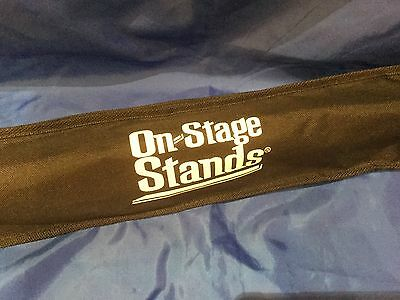 ON STAGE STANDS Floor Music Stand BLACK New In Pouch SM7122BB   • 14.46£