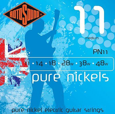 Rotosound Pn11 Pure Nickel Electric Guitar Strings 11-48  • 13.50£