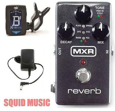 MXR Reverb M300 Relay True Bypass & Delay Trails Modes Dry Path ( FREE TUNER )