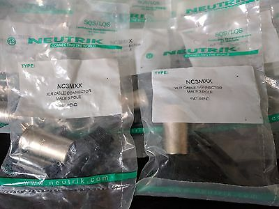 2 X Neutrik NC3MXX XLR Male 3 Pole  • 6.50£