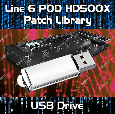 Line 6 Pod Hd500x Pre-programmed Tone Patches Usb 4400+ Guitar Effects • 11.99£