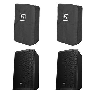 2x Electro-Voice EV ZLX-12P 2000W Active Speaker + Covers 2ch Mixer 3Yr Warranty • 812£