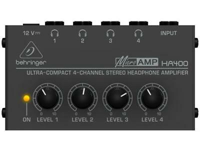 Behringer HA400 Micro Amplifier For Headphones With 4 Way Amplified • 50.57£