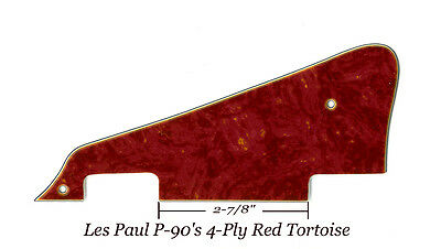 Les Paul LP RED Tortoise Studio W/P-90's Pickguard made for Gibson Project New