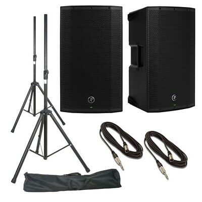 Mackie Thump12A (Pair) With Stands, Stand Bag & Cables • 548£