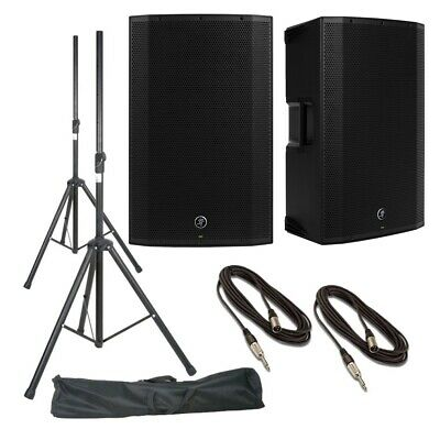 Mackie Thump15A (Pair) With Stands, Stand Bag & Cables • 590£
