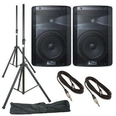 Alto TX208 (Pair) With Stands, Stands Bag & Cables • 239£