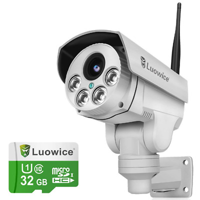 Luowice 1080P Wifi Security Camera 2MP PTZ 4X Zoom Audio Night Vision Waterproof • 195.99£