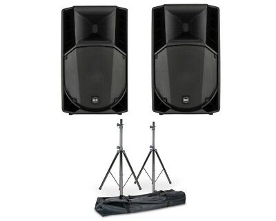 2x RCF ART 715-A MK4 2800W Active Powered PA Speaker + Stands + DSP 3Yr Warranty