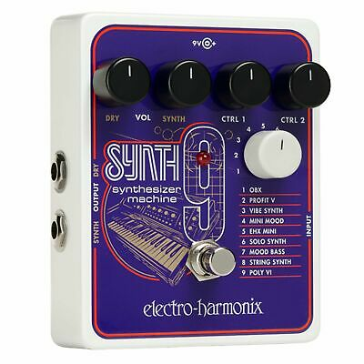 Electro-Harmonix Synth9 Synthesizer Machine Effect Pedal • 158.31£