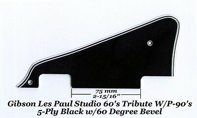 Les Paul LP Studio Black 5-Ply P90's Pickguard made for Gibson Epiphone Project