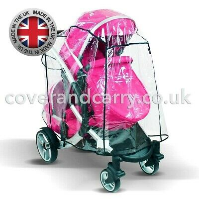Raincover For The OBaby Zynergi Zoom Tandem, Made In The UK, Supersoft PVC • 23.99£
