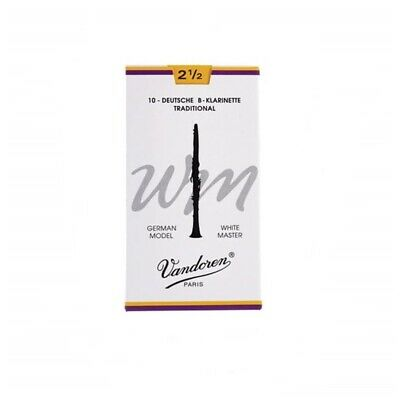 Vandoren White Master Bb Clarinet Reeds Strength 2 1/2 German Model 10 Reeds • 39.74£