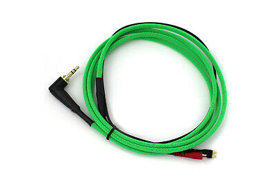 Official Senneheiser 1.5m Right Angled Steel Cable UV Neon Green For HD25 MK II • 43£