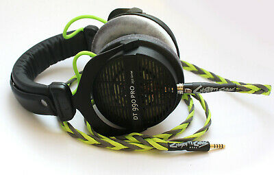 Uber Beyerdynamic DT990 Pro Detachable Balanced Litz Cable & Modded Drivers 250Ω • 235£