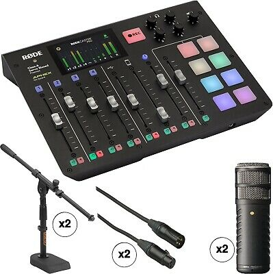 Rode RODECaster Pro 2-Person Podcast Studio With Procaster Mics And Desktop Kit • 1,261.60£