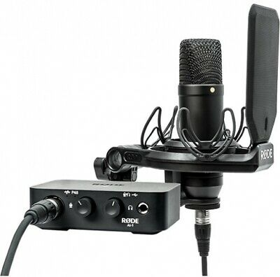 Rode Complete Studio Kit With AI-1 Audio Interface, NT1 Microphone, SMR And • 450.15£