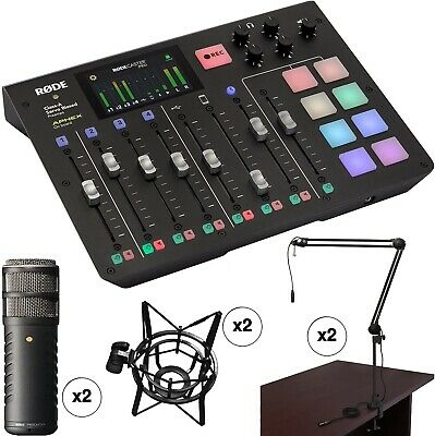 Rode RODECaster Pro 2-Person Podcast Studio With Procaster Mics And Broadcast • 1,481.28£