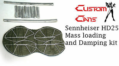 Custom Cans Sennheiser HD25 Mass Loading And Damping Kit Bass And Detail Mod • 9£