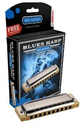 HOHNER Blues Harp MS Harmonica Key Eb, Made In Germany, Includes Case, 532BL-EF • 36.03£