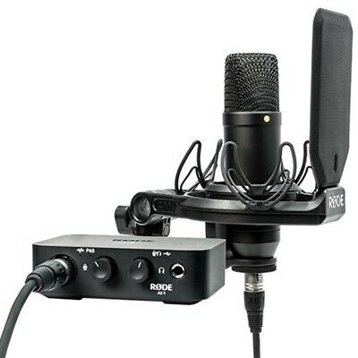 Rode Complete Studio Kit W/AI-1 Audio Interface, NT1 Mic,SMR Shockmount & Cables • 267.89£