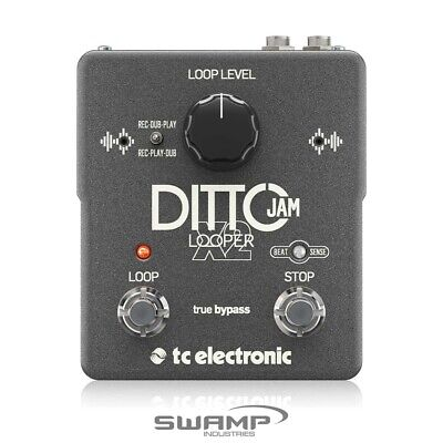 TC Electronic DITTO JAM X2 Guitar Looper Effects Pedal With Automatic Tempo Sync • 218.89£