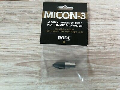 Rode Micon-3 Shure Transmitter Adaptor For Lavalier, HS-1 And Pinmic • 15£