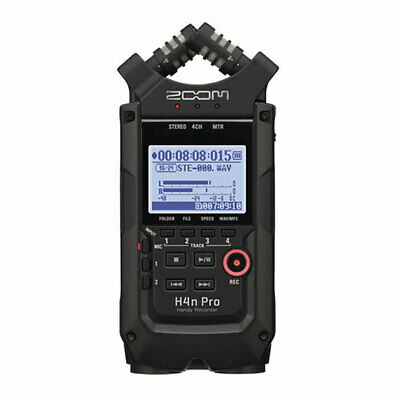 Zoom H4N Pro Black Portable Recorder - 24-bit/96kHz Field Recorder And 2x2 USB A • 239.04£