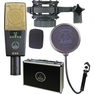 AKG C414XLII Reference Multi-Pattern Condenser Microphone NEW • 896.48£