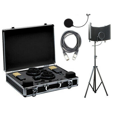 AKG C414XLII/ST MP Stereo Set Mic Set W/ Isolation Shield, Cable & Pop Filter • 2,107.76£