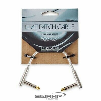 RockBoard RBO CAB PC F Sapphire Series 1/4  Jack / 6.35mm  Flat Patch Cable - 45 • 7.61£