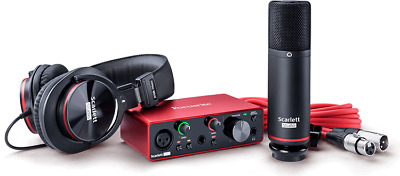 Focusrite Scarlett Solo Studio 3rd Gen. Kit With Sound Card Microphone And Hat • 237.67£