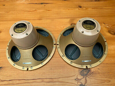 Lovely Pair TANNOY 12  Gold Speakers LSU/HF/12/8, Best Ever Tanoplas Rubber • 995£