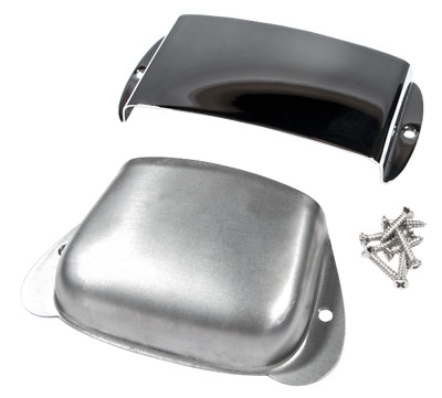 Genuine Fender Vintage Precision/P-Bass Chrome Ashtray Bridge/Pickup Covers Set • 27.20£