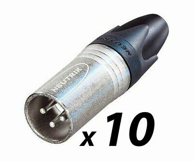 10 Pack Of Neutrik NC3MXX 3-pin Male XLR Plug • 25.50£
