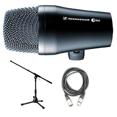 Sennheiser E902 Kick Drum Bass Dynamic Microphone W/ Stand And Cable Bundle  • 143.10£