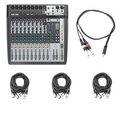 Soundcraft Signature 12 MTK Multi Track Compact Analog Mixer AxcessAbles Cables