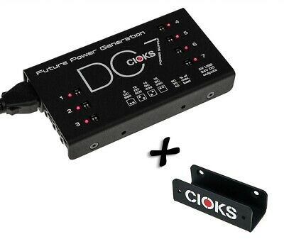 Cioks DC7 Power Supply +Grip Mounting Kit Guitar Effect Pedal New 100-240V EU US • 171.78£