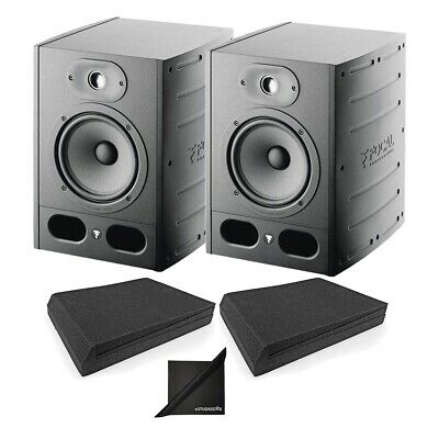 Focal Alpha 65 Active 2 Way 8  Near Field Monitor Speakers Pair W/ Mopads NEW • 587.59£