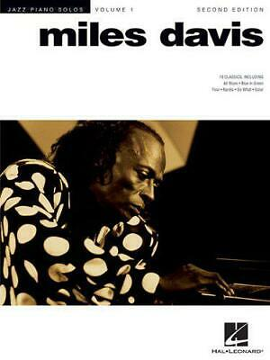 Jazz Piano Solo Volume 1: Miles Davis (Jazz Piano Solos (Numbered)) By , NEW Boo • 12.33£