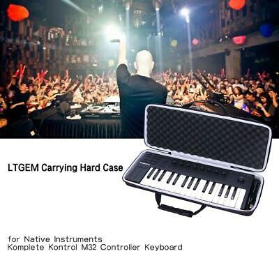 Black Travel Shockproof Hard Case For Native Komplete Kontrol M32 Instrument NEW • 35.99£