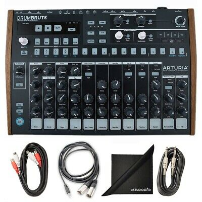 Arturia DrumBrute Analog Drum Machine W/ AxcessAbles Cable Pack • 278.92£