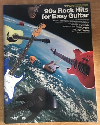 90s Rock Hits For Easy Guitar Hal Leonard Tab Book  Music sheet chords song