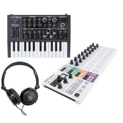 Arturia MicroBrute 25 Mini Key Analog Synthesizer And BeatStep Pro Controller • 527.41£