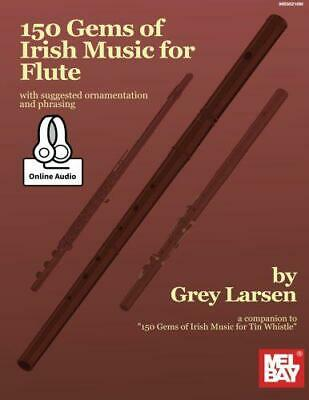 150 Gems Of Irish Music For Flute By Larsen, Grey, NEW Book, FREE & FAST Deliver • 17.63£