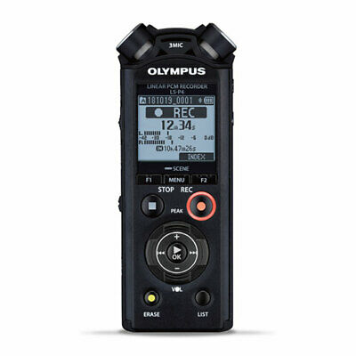 Olympus LS-P4 Compact Linear PCM Recorder With Noise Cancelling, 24-bit 96kHz, F • 142.74£