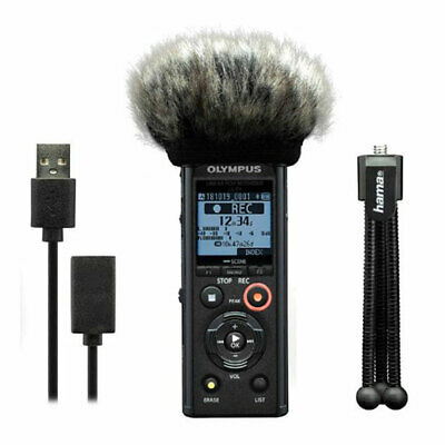Olympus LS-P4 Podcaster Kit Incl. Mini Tripod, Windscreen And USB Cable      • 200.04£