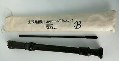 Yamaha Soprano /Descant Recorder Baroque YRS-24B Cover And Cleaner Included • 4.50£